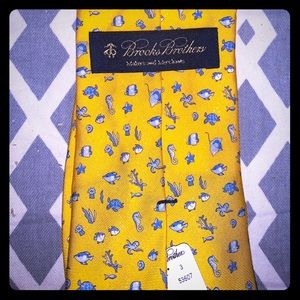"Brooks Brothers-Men's ""under the sea"" Tie"